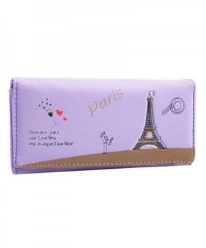 Damara Eiffel Printed Leather Wallet