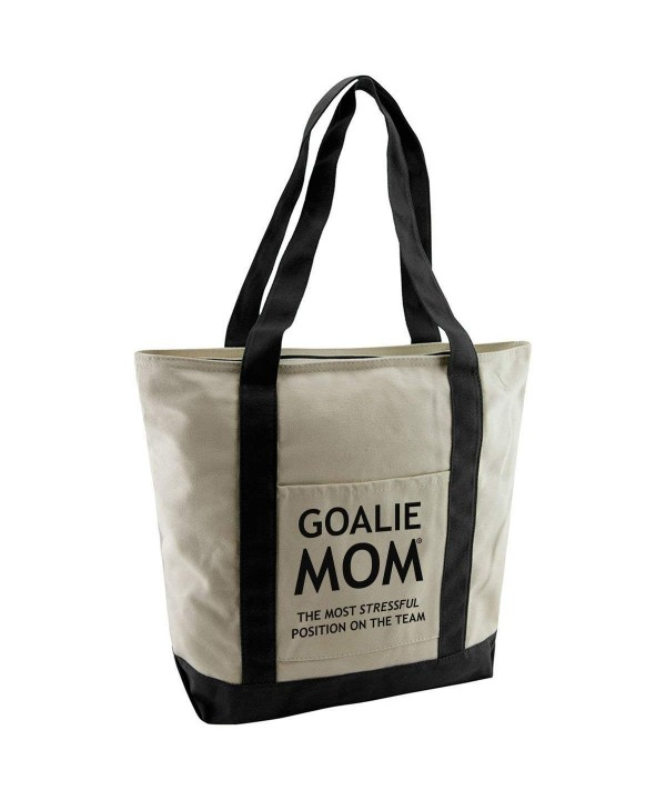 Goalie Mom Cotton Canvas Tote