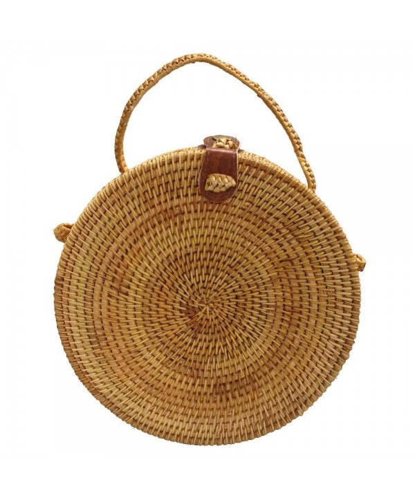 Rattan Handbags Shoulder Dual use Crossbody