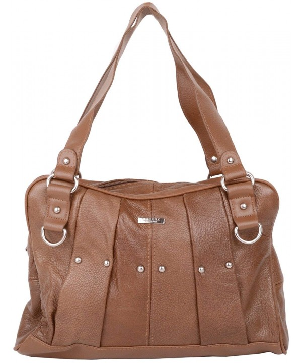 Leather Vintage Shoulder Pleated Design
