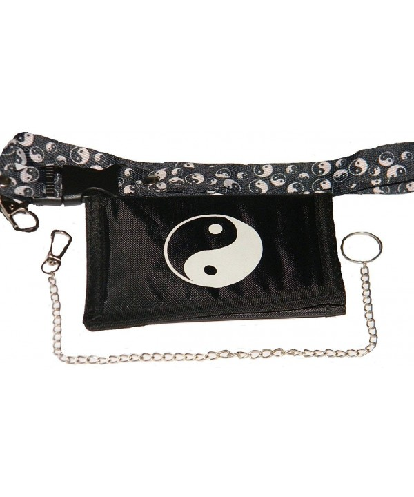 Black White Yang Wallet lanyard