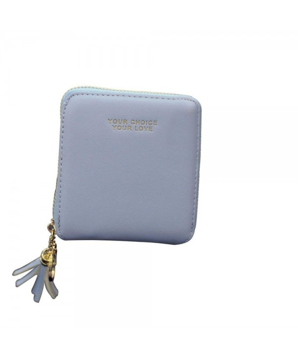 Amarte Blocking Leather Wallet Blue