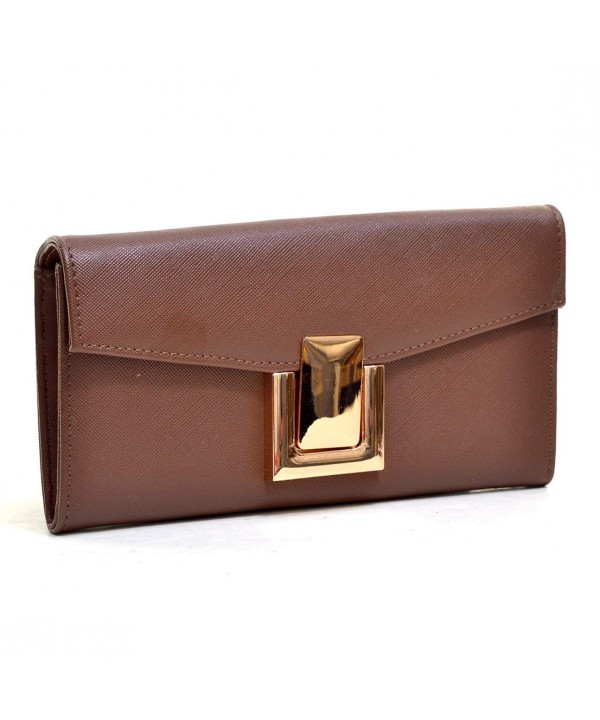 Dasein Leather Fashion Gold Tone Simple