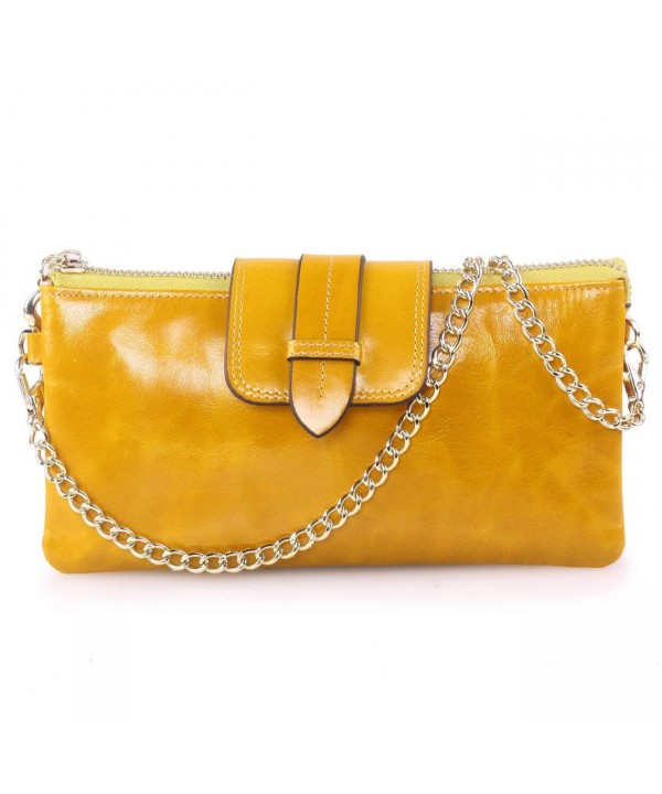 Womens Capacity Genuine Leather Wristlet