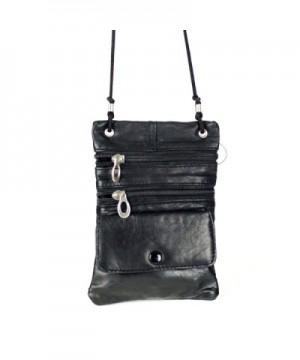 Leather Organizer Shoulder Pocket Handbag