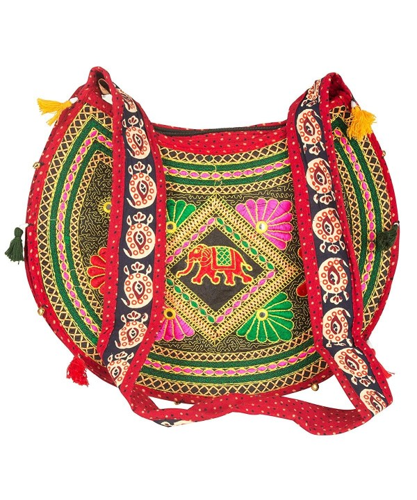 Tribe Azure Crossbody Messenger Embroidered