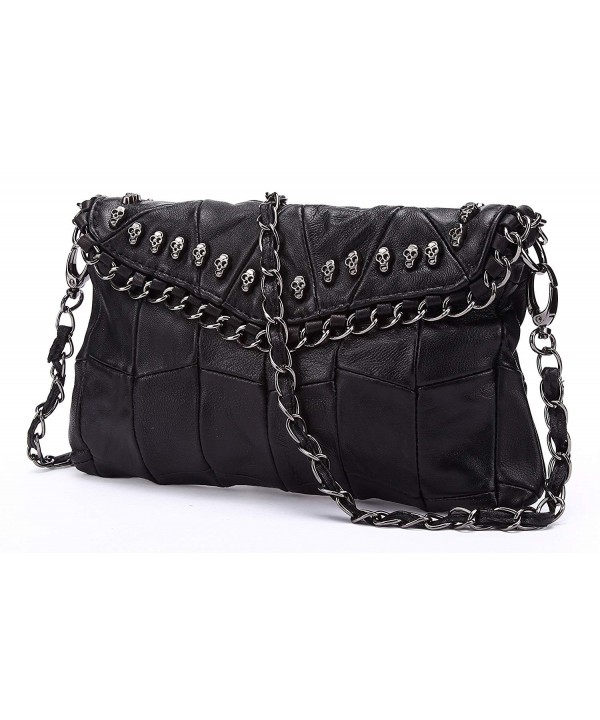 Studded Leather Designer Shoulder Handbag