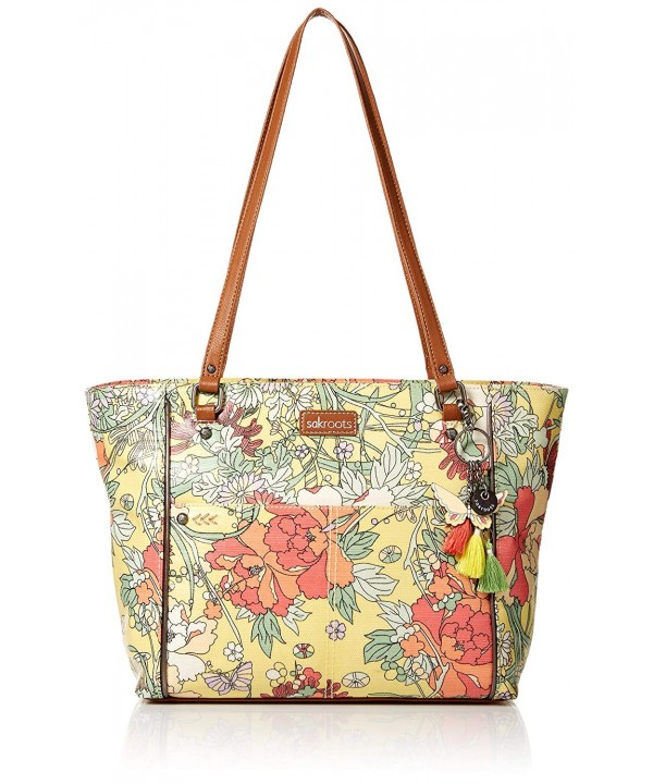 Sakroots Medium Satchel Sunlight Flower