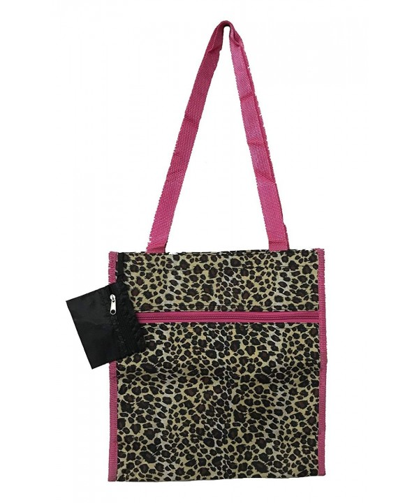 12 inch Shopping Unique Traveler Leopard Pink