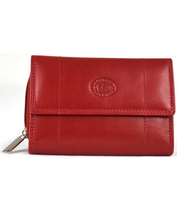 Ladies Leather Zip around Wallet Section