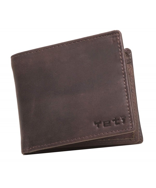 Burnished Leather Wallet Change Holder