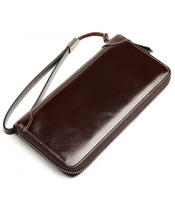Womens Luxury Genuine Leather Organizer