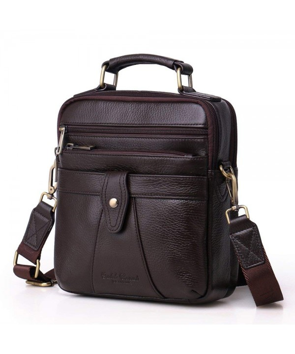 Langzu Handmade Messenger Shoulder coffee 6013