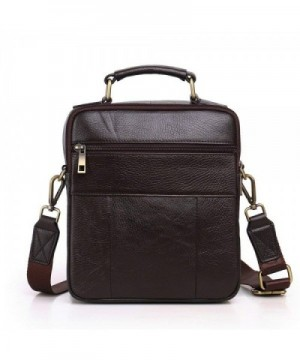 33cd1a533c Langzu Handmade Messenger Shoulder coffee 6013  Fashion Men Messenger Bags  Clearance Sale  Discount Real ...