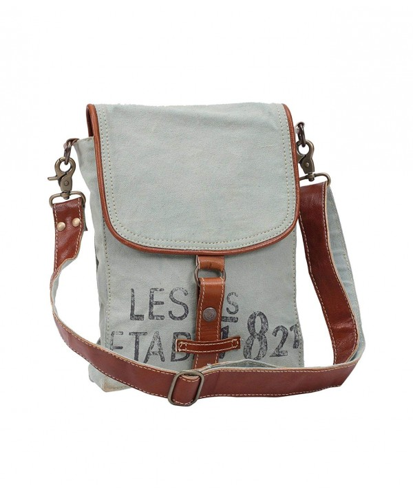 Myra Upcycled Canvas Crossbody Bag