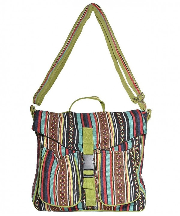 Cotton bohemian messenger crossbody muticolor