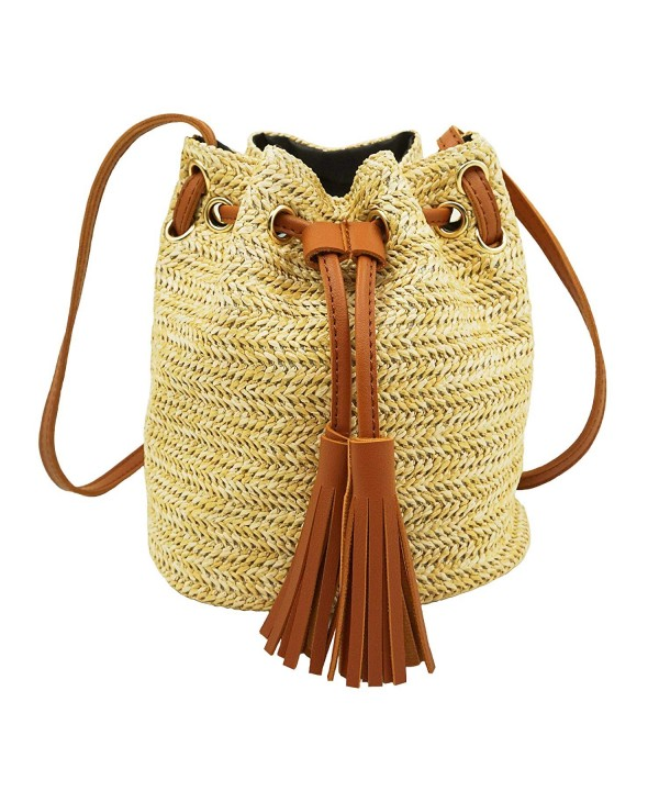 Straw Crossbody Shoulder Basket Vacation