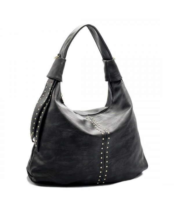 Handbags shoulder motorcycle Studded capacity