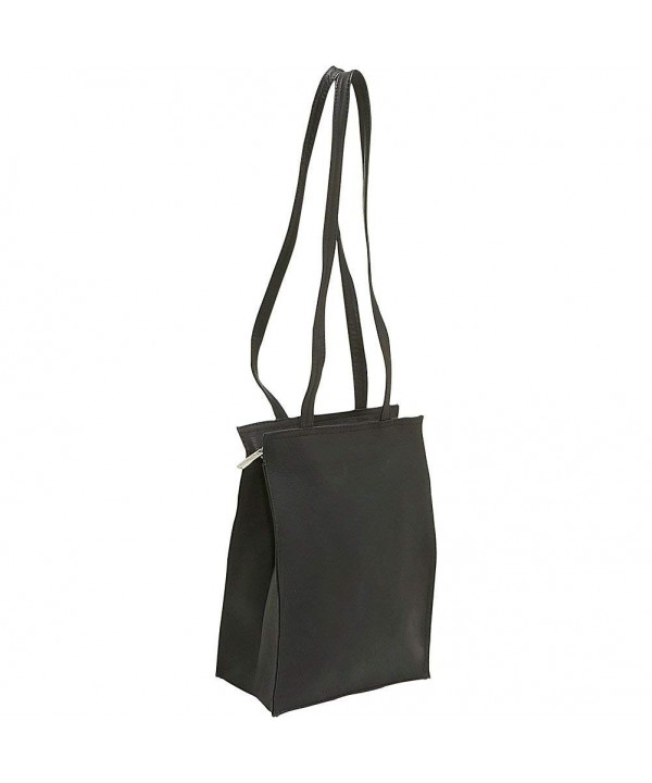 Donne Leather Zip Tote Black