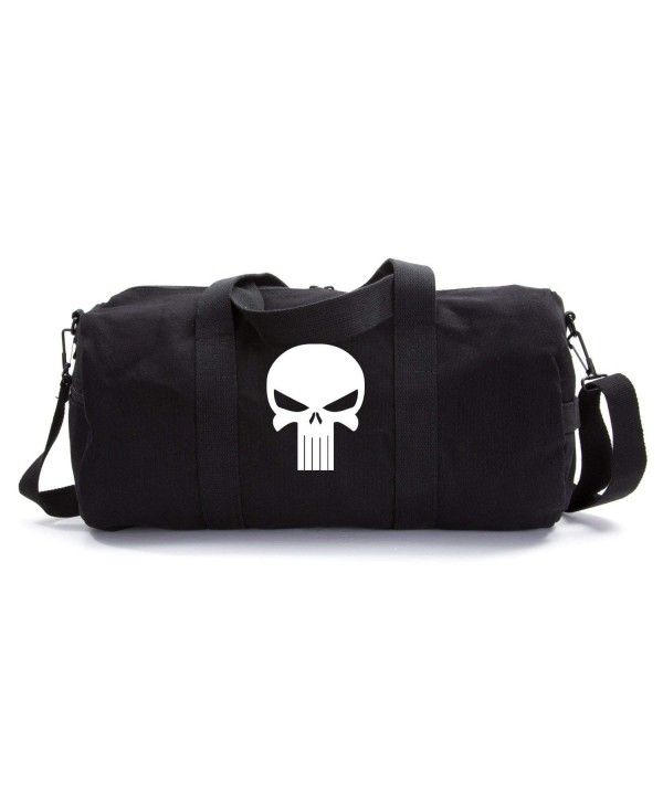 Canvas Shoulder Duffel Bag Sports Punisher