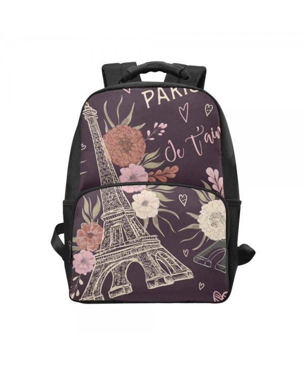InterestPrint Eiffer Custom Backpack Daypack