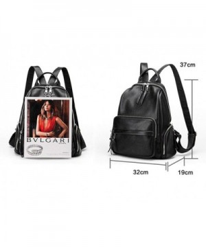 5b84bf1269b Fashion Backpack Purse for Women Leather Small Work Tote bag Teen Girls  School Bags - Black - CR12IT93KKR
