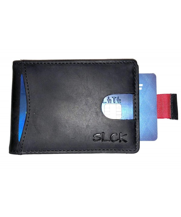 Leather Bifold Wallet Holder Compartment