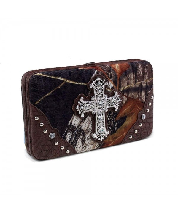 Realtree Camouflage Clutch Wallet Rhinestone