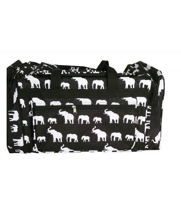 ND22 Black white Elephant Duffel
