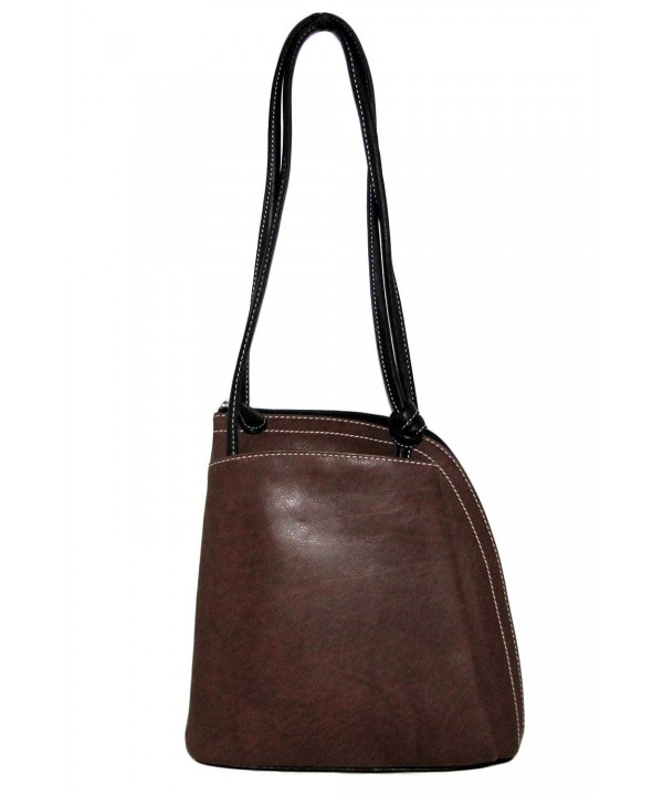 Italian Leather Convertible Backpack Handbag