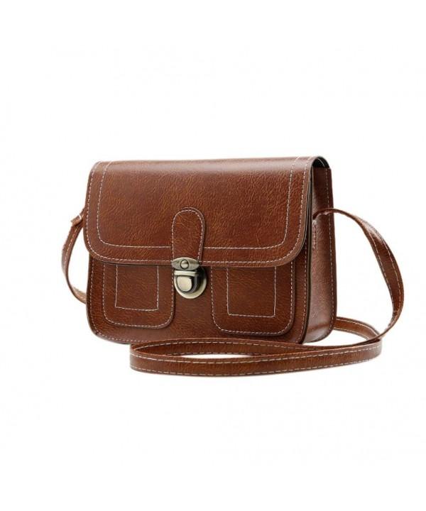 Fashion Shoulder Vintage Leather Handbag