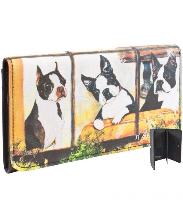 Boston Terriers Looking Window Checkbook