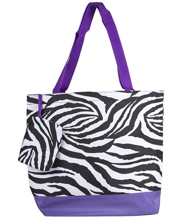 Ever Moda Purple Zebra 17 inch