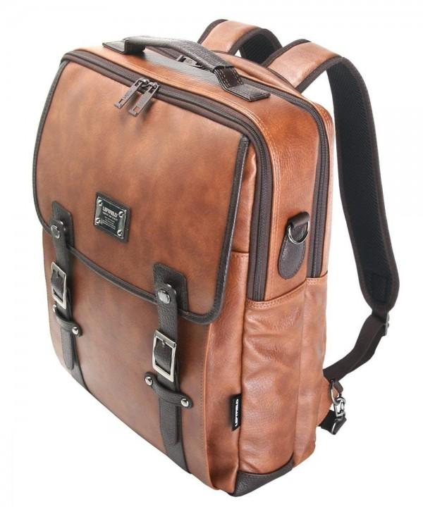 Laptop Backpack Messenger Synthetic Leather