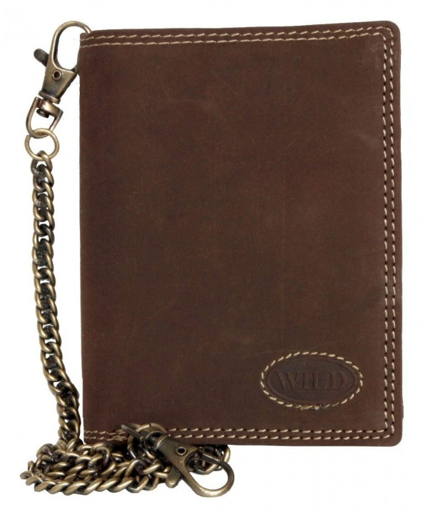 Natural Leather Bikers Wallet Wild