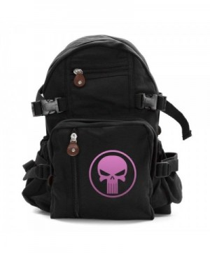 Heavyweight Canvas Backpack Punisher Skull