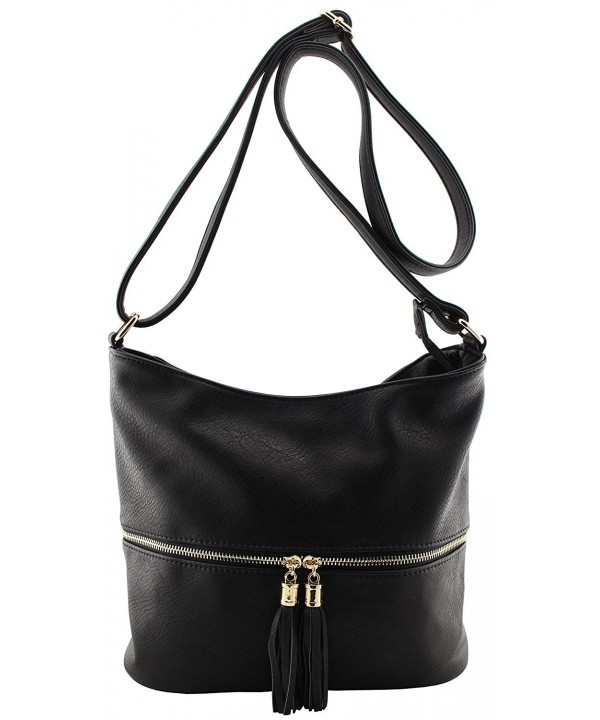 leather womens pockets crossbody tassels