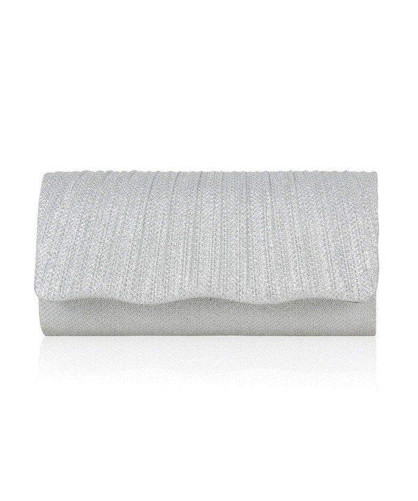 Damara Shining Pleated Wedding Clutch