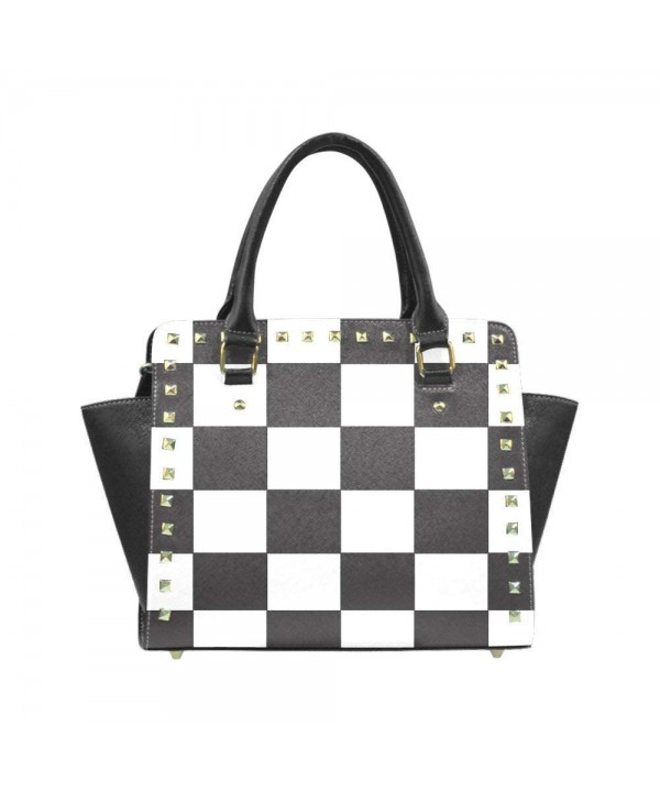 Shoulder Handbag Crossbody Checkered Pattern