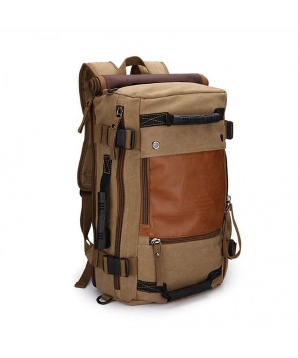 Ibagbar Canvas Backpack Camping Rucksack