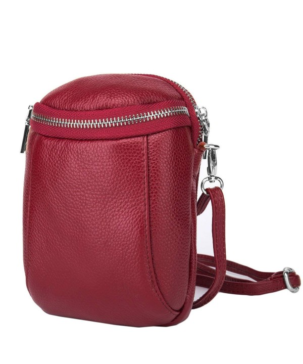 Lecxci Leather Smartphone Crossbody Phonesize