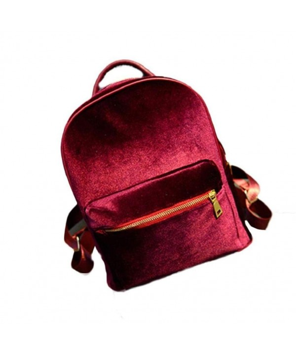 VIASA Velvet Backpack School Shoulder