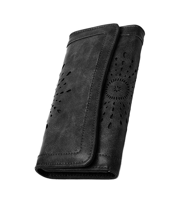 Leather Wallet Credit Trifold Organizer
