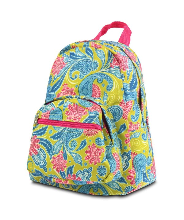 Zodaca Small Backpack Green Paisley