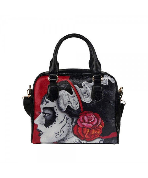 InterestPrint Muertos Womens Shoulder Handbag