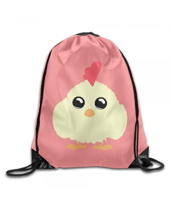 Fluffy Chick Lightweight Drawstring Backpack