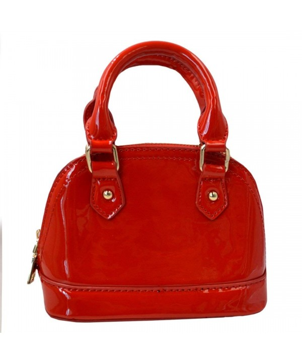 Around Patent Leather Satchel Handbags