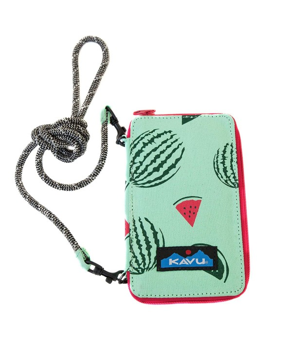KAVU Time Bi Fold Crossbody Wallet