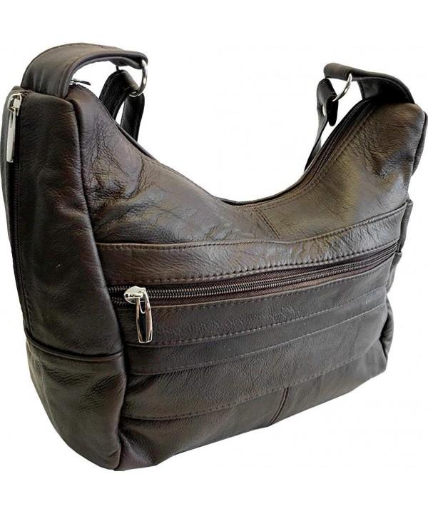 Genuine Leather Multi Pocket Crossbody Shoulder