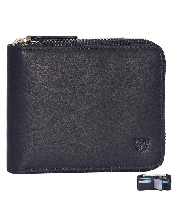 Leather Zipper wallet Around Wallet